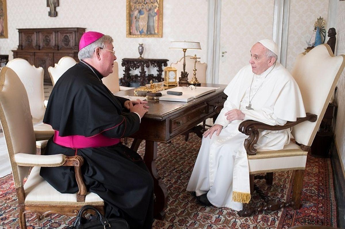 Erzbischof Jean-Claude Hollerich wurde am 30. Januar von Papst Franziskus empfangen.