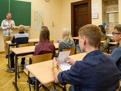 """Der erste Schultag in einer neuen Schule - hier im """"Lycée Robert Schuman"""""""