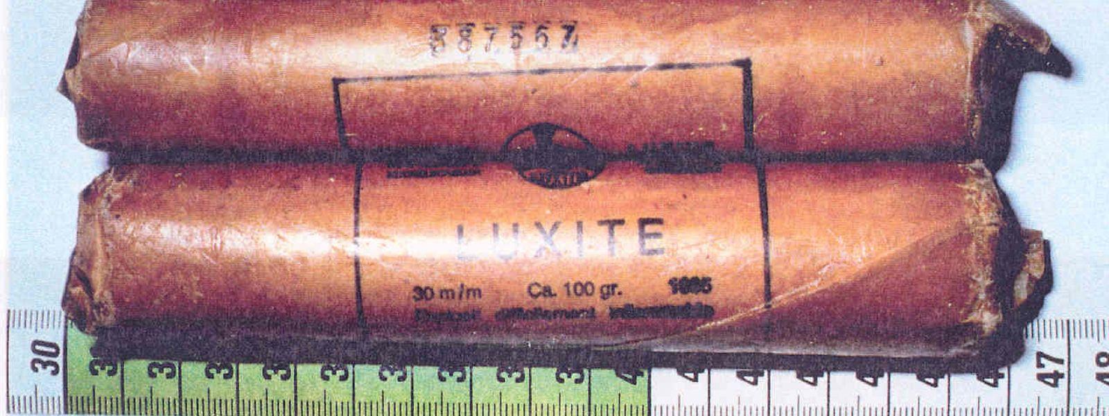 Luxite-Sprengstoff aus einheimischer Produktion ist eines der Markenzeichen der Bommeleeër.