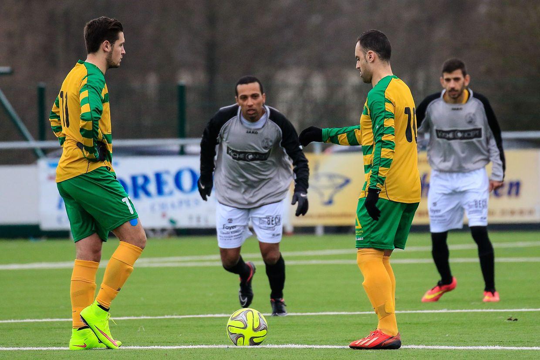 Schifflange (en gris) est venu s'imposer 1-0 sur le terrain de Weiler ce dimanche.