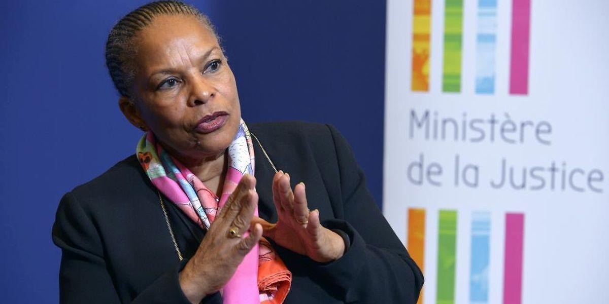 La ministre de la Justice, Christiane Taubira, le 15 décembre 2015 à Paris