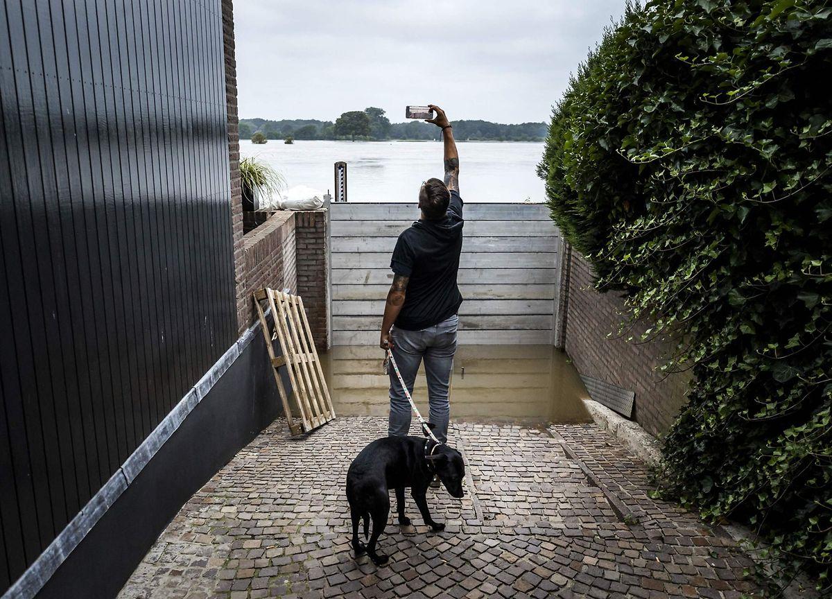 Hochwasser in Arcen in den Niederlanden.
