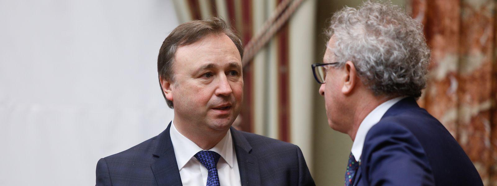 Le député André Bauler (DP) a pu entendre les préconisations du ministre des Finances, Pierre Gramegna (DP) ce mardi matin.