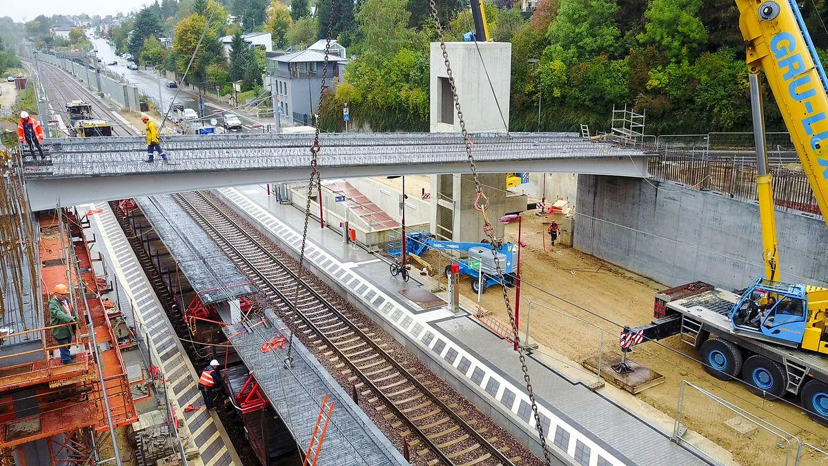 Travaux de doublement de la ligne Luxembourg-Sandweiler-Contern.