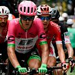 (From L) Belgium's Thomas De Gendt, New Zealand's Tom Scully, Belgium's Dimitri Claeys and Switzerland's Michael Schar ride during their four-men breakaway in the 13th stage of the 105th edition of the Tour de France cycling race, between Le Bourg-d'Oisans and Valence, on July 20, 2018. / AFP PHOTO / Philippe LOPEZ