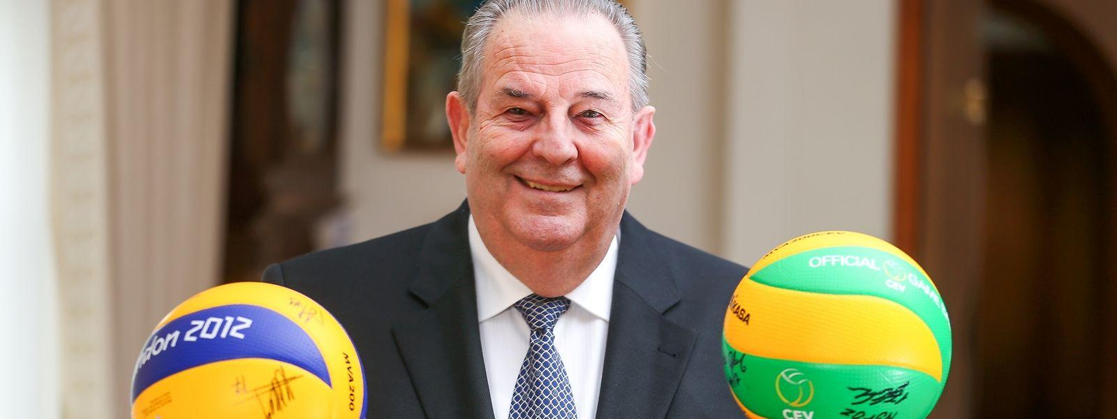 14 Jahre lang war André Meyer Vorsitzender des Europäischen Volleyballverbandes.