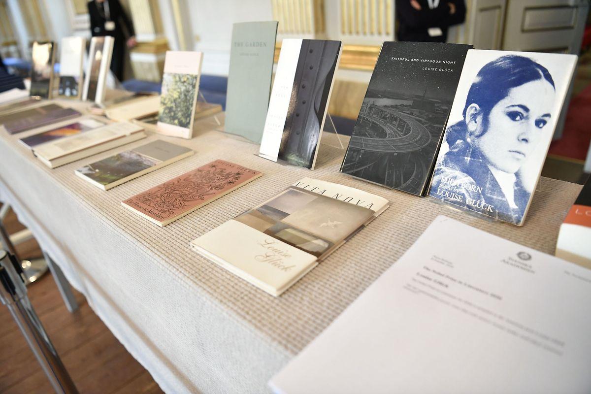 Giücks Bücher wurden bei der Bekanntgabe ausgestellt.