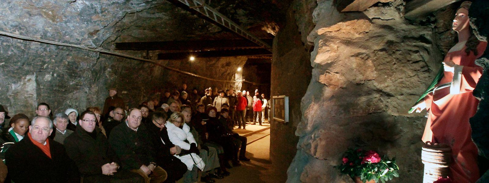 Traditionell findet jedes Jahr am 4. Dezember eine Messe in der Mine statt. Dieses Jahr fällt sie aber wegen der Pandemie aus.