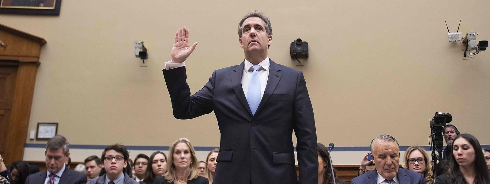 Cohen während seiner Vereidigung.
