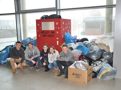 Five pupils from l'Atert-Lycée in Redange collected the clothes.