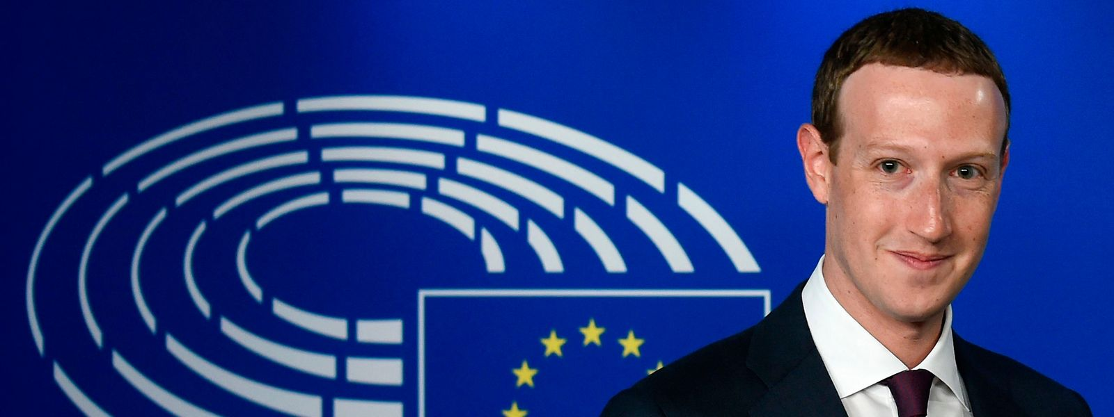 Mark Zuckerberg bei seiner Ankunft im EU-Parlament.