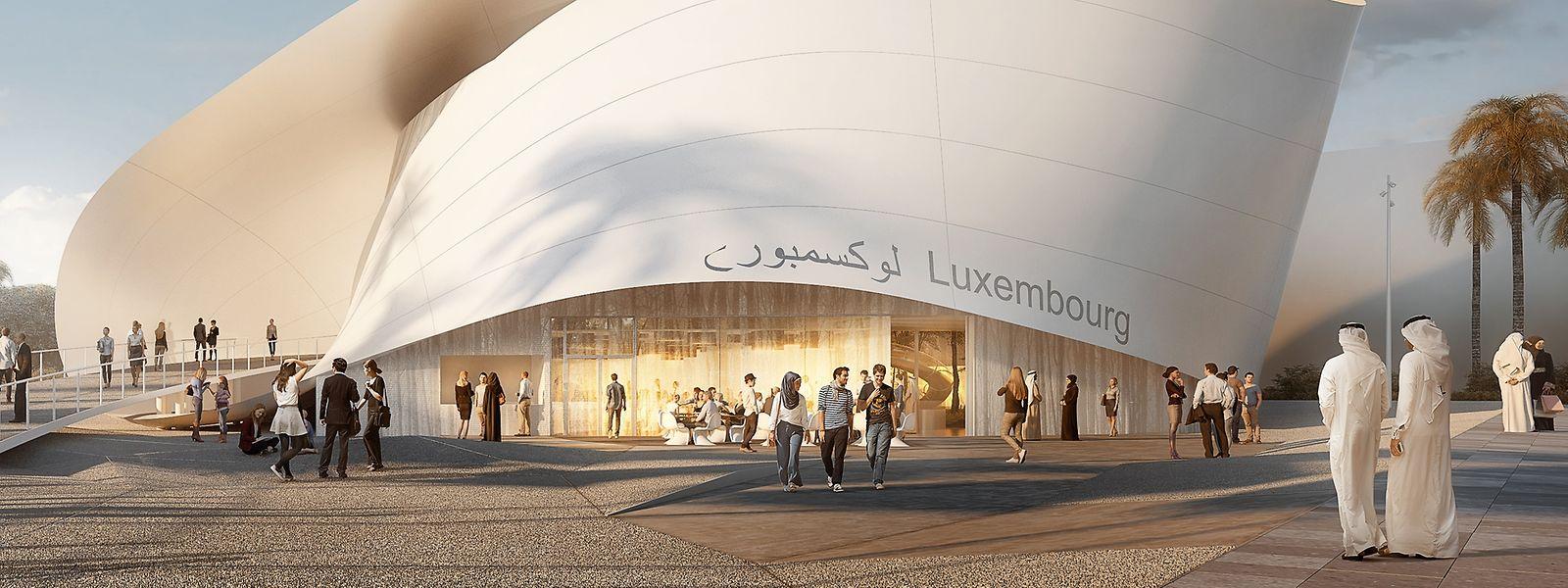Der luxemburgische Pavillon der Dubai EXPO 2020.