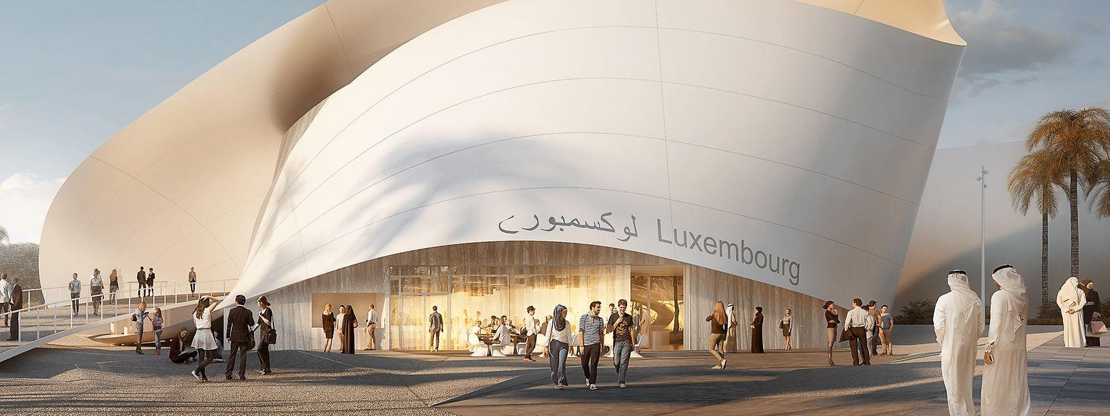 Der Pavillon des Großherzogtums bei der Weltausstellung wird derzeit in Dubai gebaut.