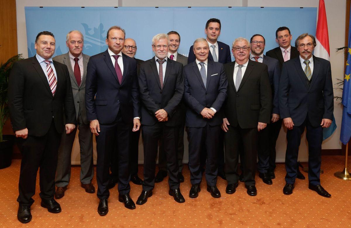 Am Mittwochnachmittag wurden die Vertreter aus Bad Mondorf, Beckerich, Lorentzweiler, Mamer, Mertert, Niederanven, Nommern, Petingen, Préizerdaul, Pütscheid und Roeser vereidigt.