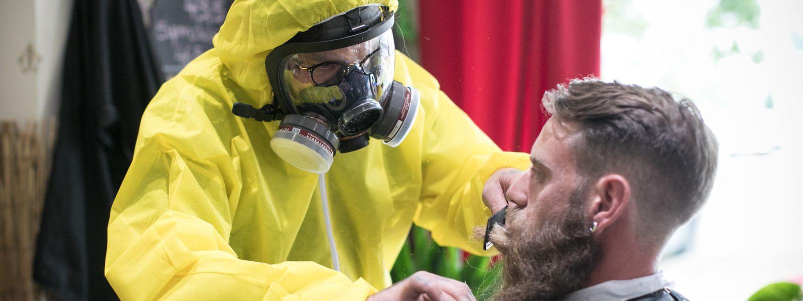 Ein bisschen Entertainment gehört für den Haarstylist Marc Weisen in der Zeit der Pandemie dazu.