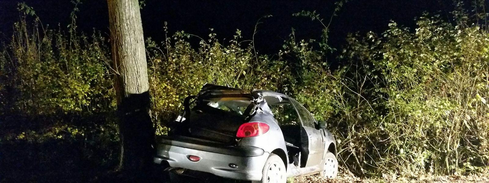 Le conducteur a perdu le contrôle de son véhicule et a percuté un arbre.