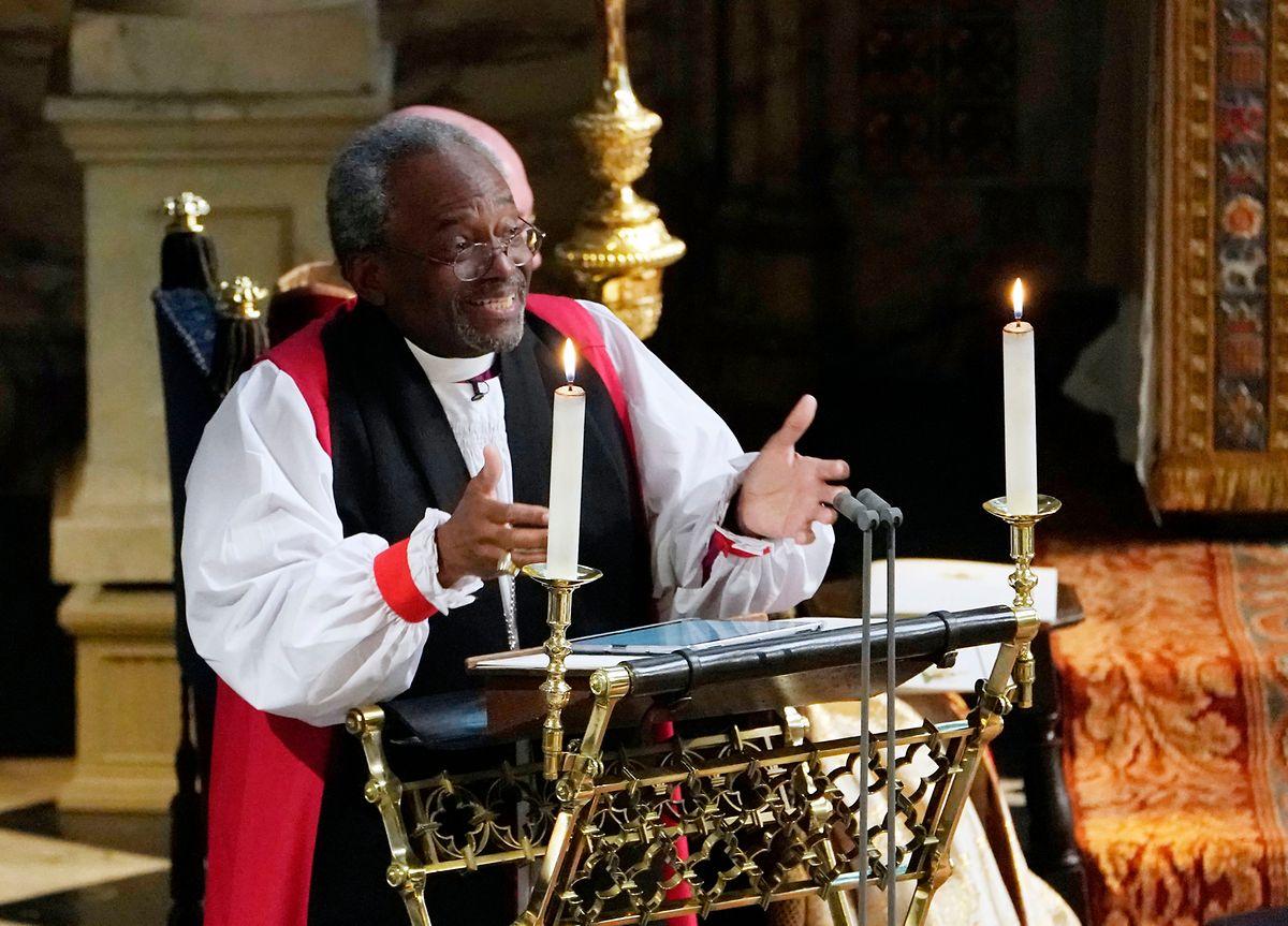 Michael Bruce Curry, Oberhaupt der Episkopalkirche der USA, hielt eine Predigt bei der Trauung von Meghan Markle und Prinz Harry, die für viel Aufmerksamkeit sorgte.