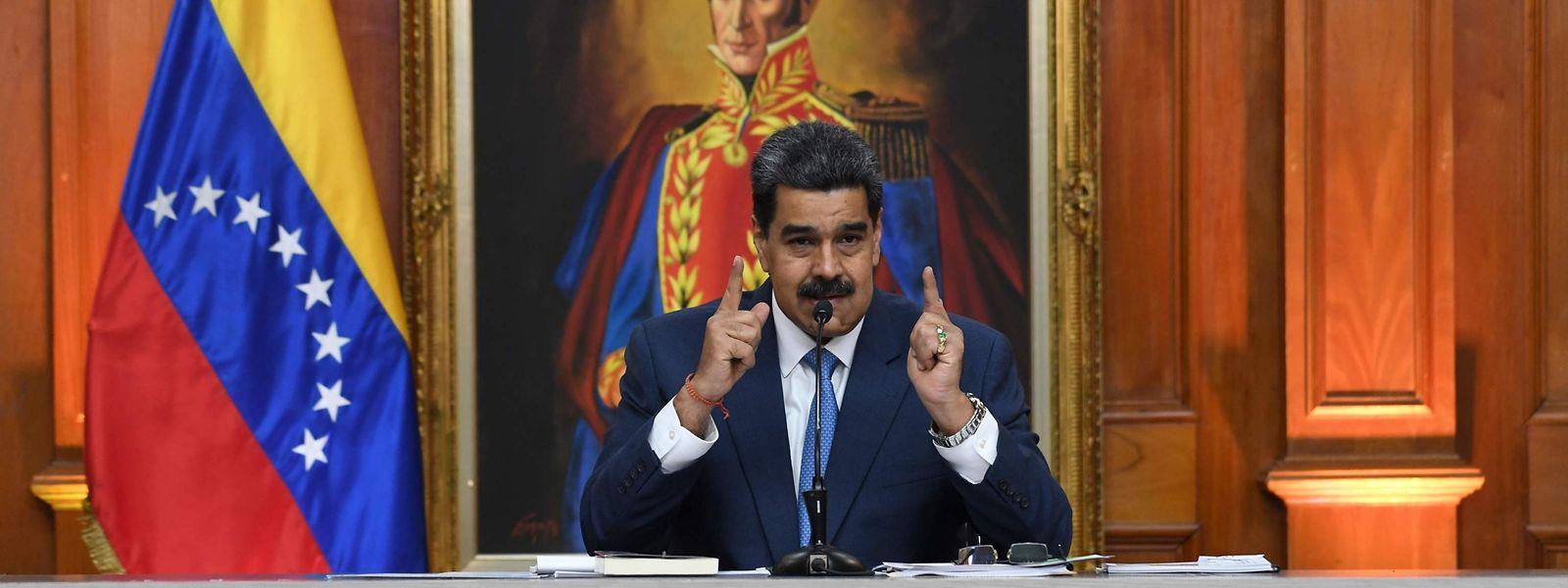 Der venezolanische Präsident Nicolás Maduro bei einer Pressekonferenz.