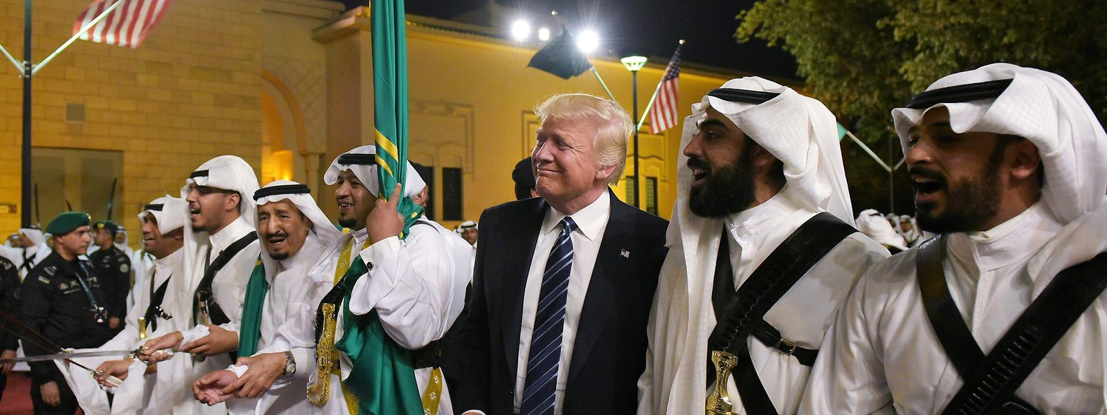 US-Präsident Donald Trump bei seinem Besuch in Saudi-Arabien im Mai 2017.