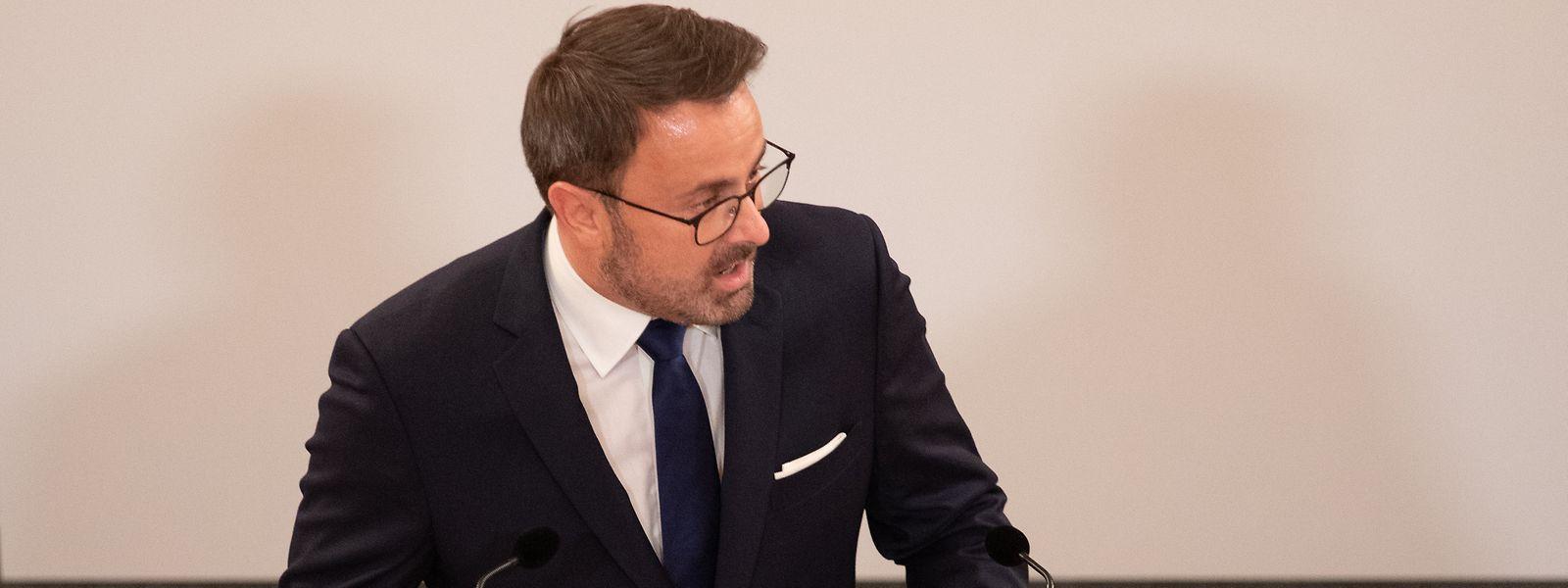 Le Premier ministre Xavier Bettel n'a pas évoqué que la crise du covid-19 dans son discours sur l'état de la Nation ce mardi