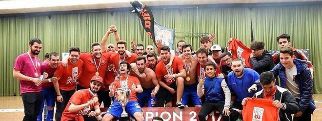 O FC Differdange é o atual campeão nacional de futsal 2016/17