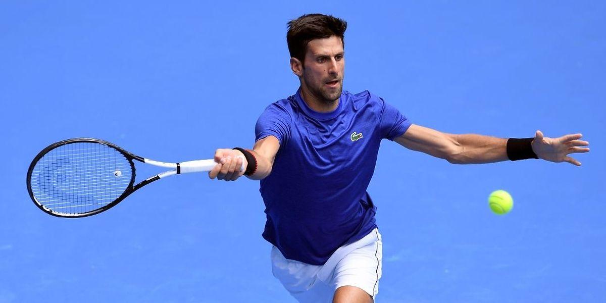 Novak Djokovic aborde cette première levée du Grand Chelem dans la peau du n°1 mondial.