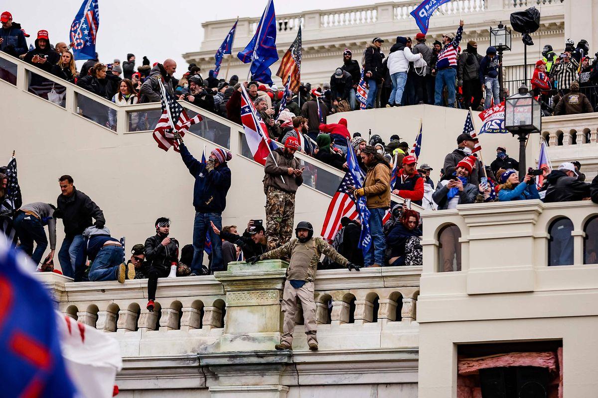 Die Treppen vor dem Kapitol.
