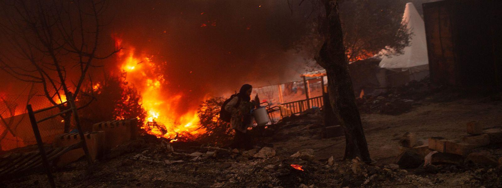 Bei dem Brand im September 2020 war das Lager fast vollständig zerstört worden.