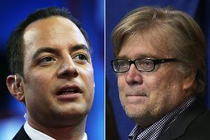 Zwei kontorverse Entscheidungen: Reince Priebus (links) soll Trumps Stabschef werden, der radikale Provocateur Steve Bannon sein Chefstratege.
