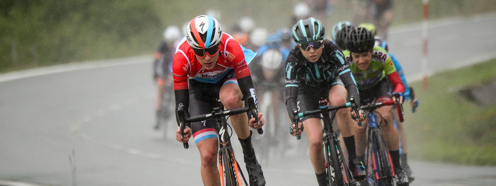 Christine Majerus à l'attaque. La championne nationale poursuit sa remontée à l'Energy Women's Tour.