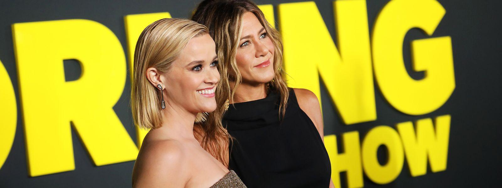 """Reese Witherspoon und Jennifer Aniston geben die starken Frauen in """"The Morning Show""""."""