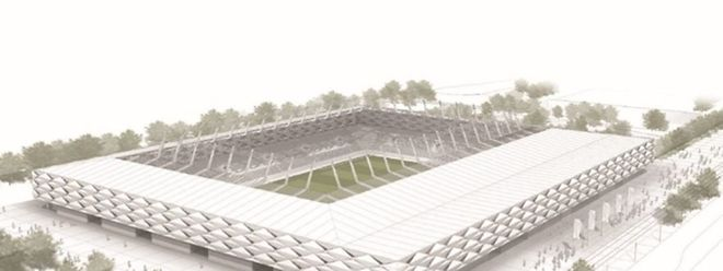 So sieht der Entwurf für das nationale Fußballstadion aus.