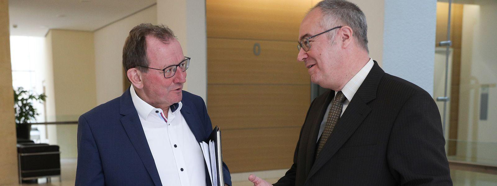 Le président de la Chambre Fernand Etgen (à gauche) devra bientôt composer avec un nouveau secrétaire général.