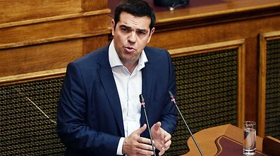 Alexis Tsipras im Parlament in Athen.