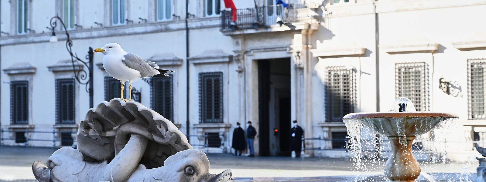 Der Regierungssitz Palazzo Chigi in Rom. Mitten in der Corona-Krise ist in Italien die Regierung von Ministerpräsident Giuseppe Conte geplatzt.