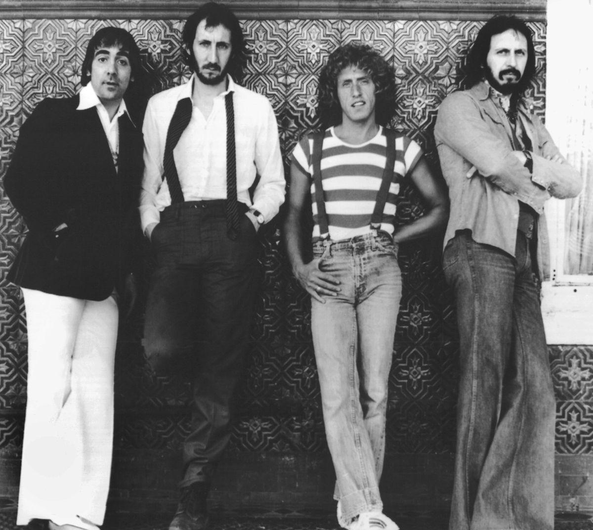 Kultband: Eines der letzten Bandfotos, das die Originalbesetzung von THe Who zeigt, aus dem Jahr 1978. Keith Moon (l.) starb wenig später. Townshend (2.v.l.)  hatte schwer damit zu kämpfen.
