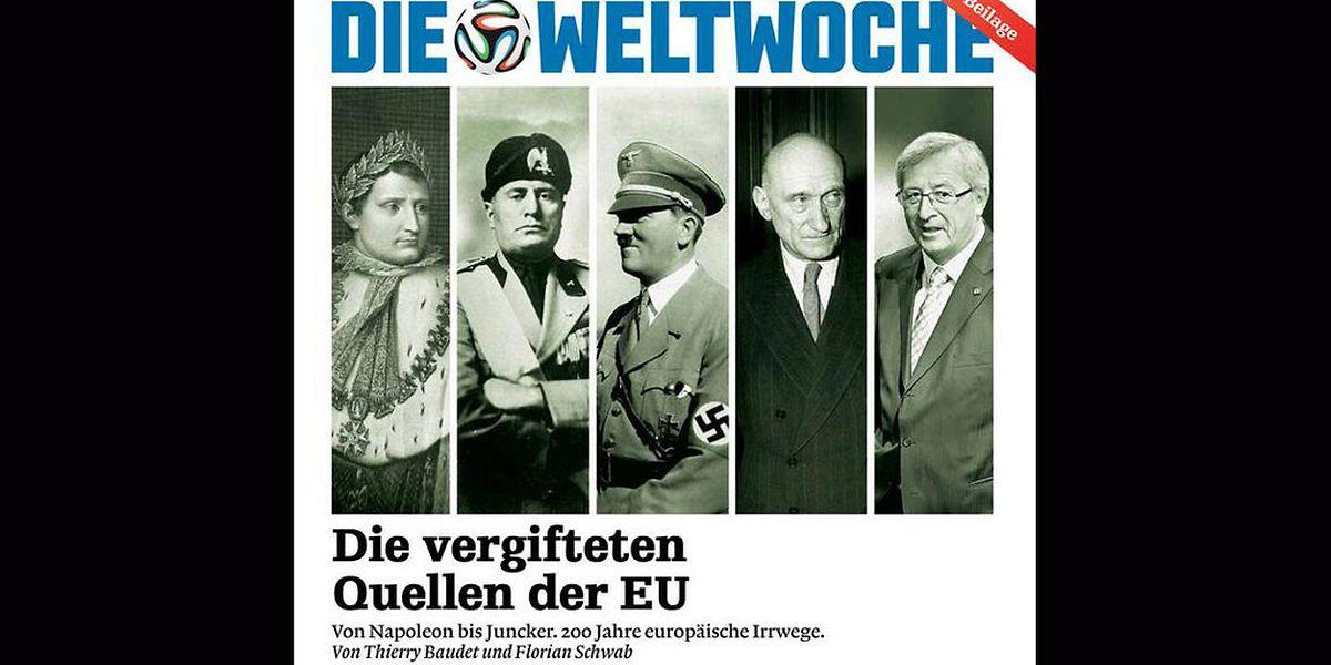 """Das aktuelle Titelbild der """"Weltwoche""""."""