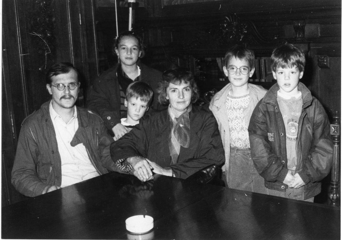 Andreas Holz, Frau Mandy Hotschnig und deren Kinder.