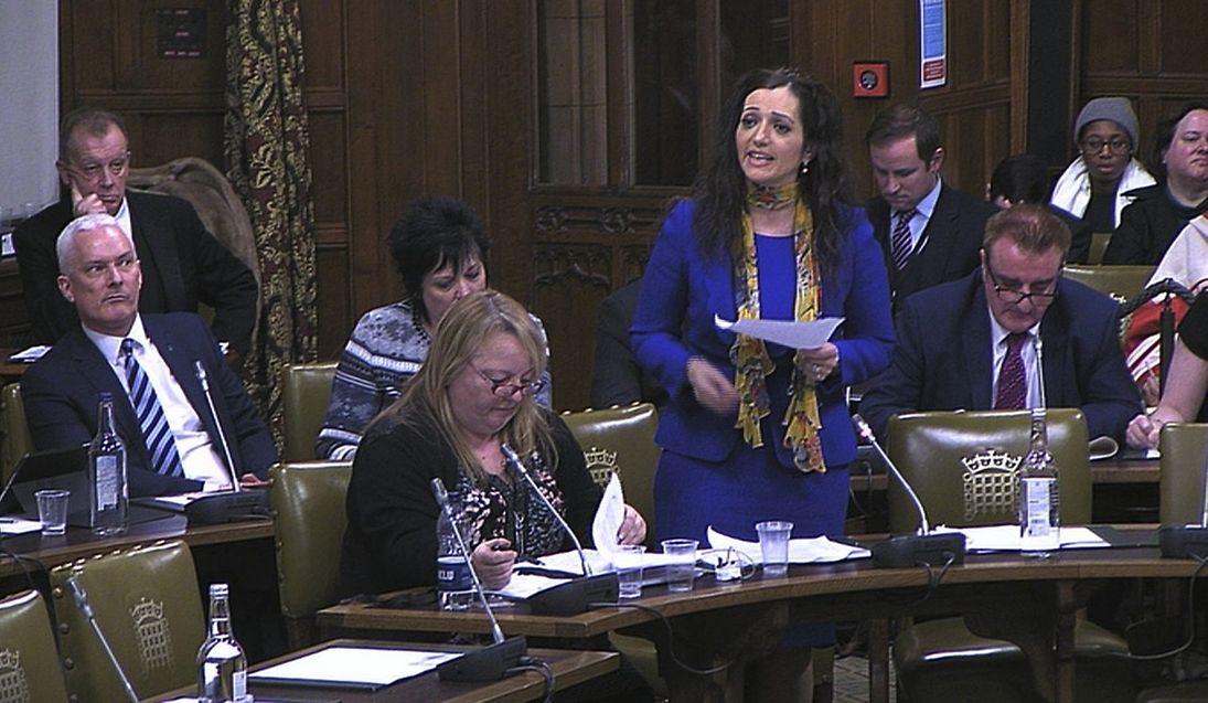 Scottish National Party MP Tasmina Ahmed-Sheikh speaking during the debate