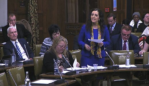 Scottish National Party MP Tasmina Ahmed-Sheikh speaking during the debate
