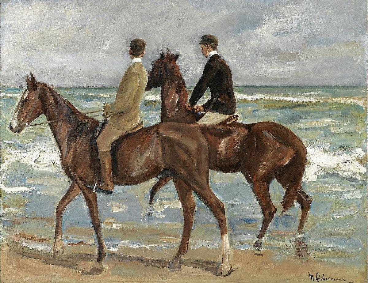 """Max Liebermanns """"Zwei Reiter am Strand""""."""