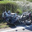 Frontalkollision Motorrad / Personenwagen / Foto: Guy SEYLER