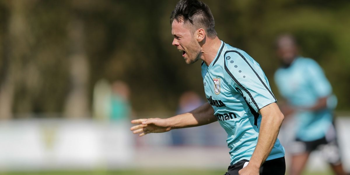 Mario Pokar vient d'inscrire le deuxième but dudelangeois. Le F91 domine le Progrès et conserve la tête du classement.