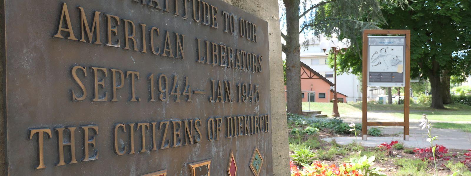 Neben dem Monument zu Ehren der US-Befreier im Diekircher Stadtpark steht bereits die erste von mehreren Infotafeln, die in den kommenden Monaten noch in Erinnerung an die 28. US-Infanterie-Division im Norden des Landes errichtet werden.