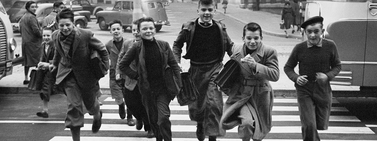 Ecoliers rue Aldringen en 1954