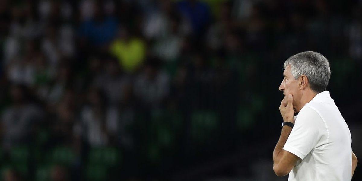 Quique Setién, l'entraîneur du Betis Séville, prône un football très offensif, mais son équipe n'a marqué que cinq buts depuis l'ouverture de la Liga.