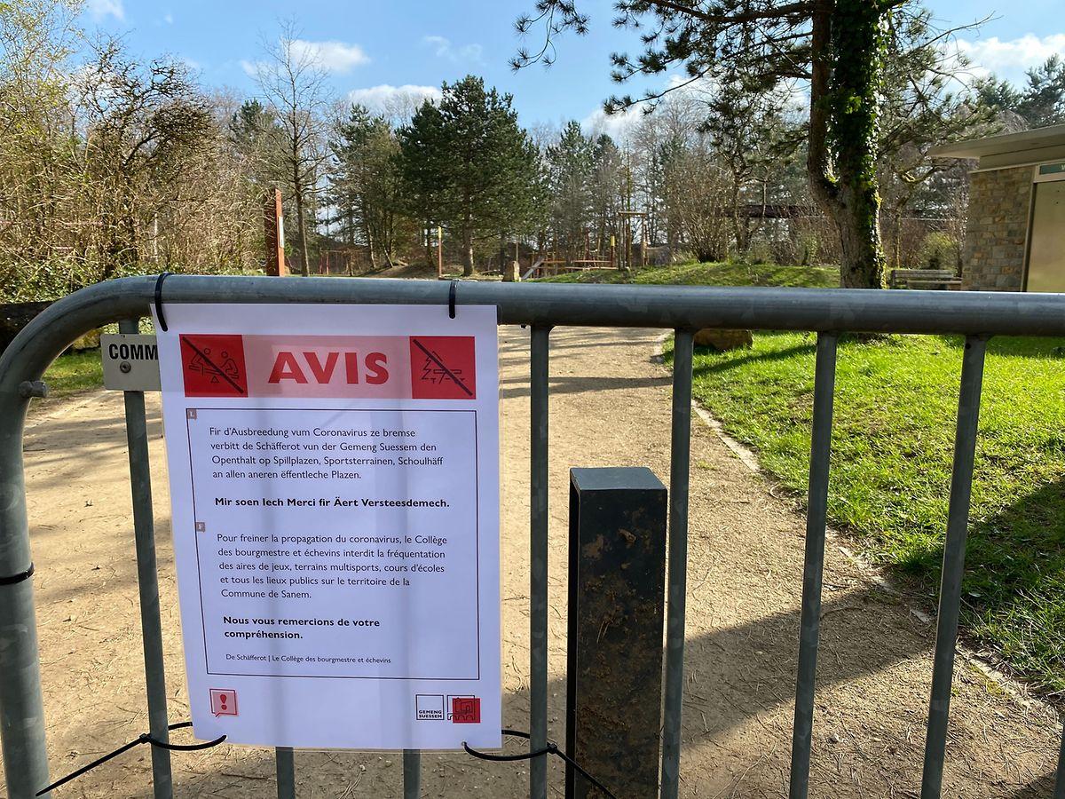 Unter anderem geschlossen ist seit Dienstag der große Spielplatz am Beleser Galgenberg.