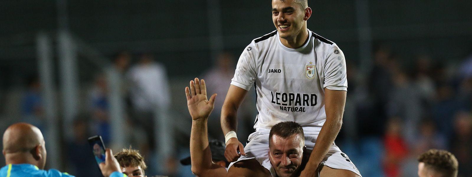 Danel Sinani n'est pas (encore?) sur le toit de l'Europe, mais la qualification dudelangeoise va rapporter gros au club