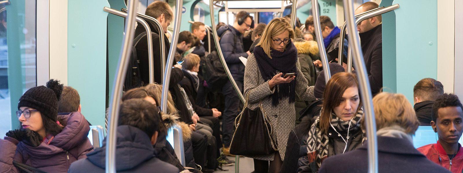 Entre fin 2017 et fin 2018, la population de Luxembourg-Ville s'est agrandie de 3.000 personnes. C'est l'équivalent de 7 rames de tram bondées !