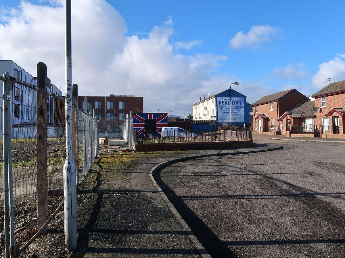 """Der """"Shankill"""" -  eine der Hochburgen der für die Zugehörigkeit Nordirlands zum Vereinigten Königreich eintretenden Unionisten."""